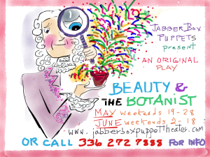 Beauty and Botanist postcard